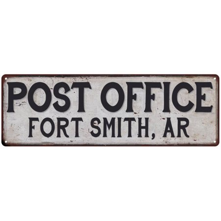 Fort Smith, Ar Post Office Personalized Metal Sign Vintage 6x18 106180011351 ()
