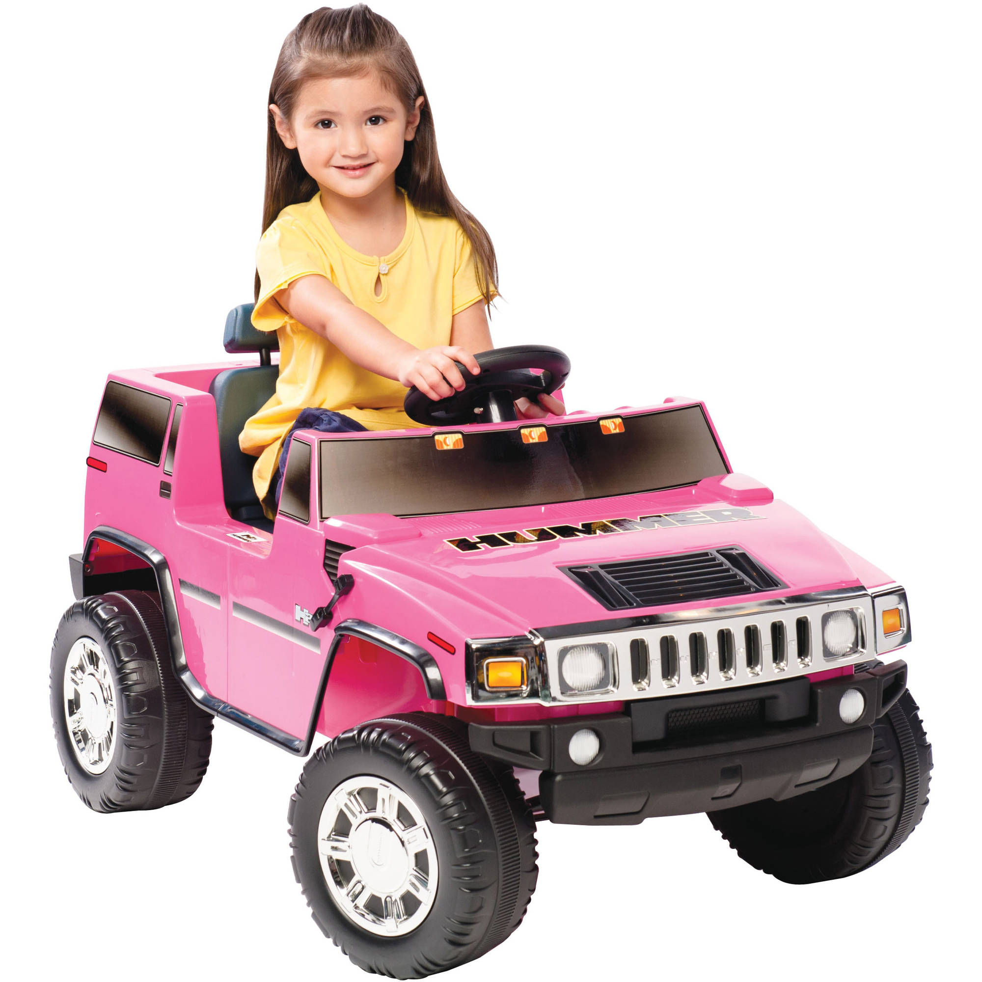 Hummer H2 6-Volt Battery-Powered Ride-On, Yellow