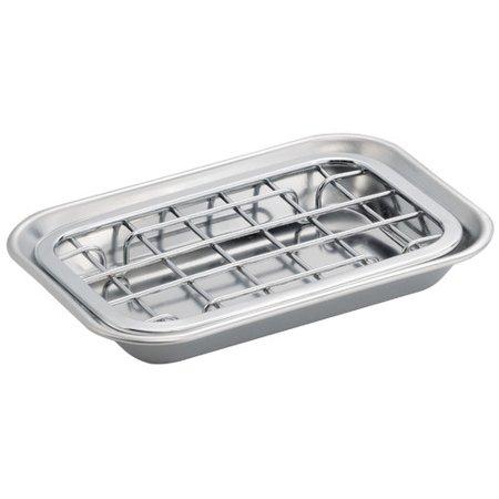 InterDesign Gia Bar Soap Dish for Bathroom Vanities, Kitchen Sink, 2 Piece, Polished