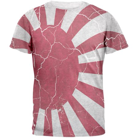 Distressed Japanese Rising Sun Flag Mens T Shirt