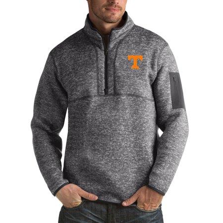 Tennessee Volunteers Antigua Fortune Big & Tall Quarter-Zip Pullover Jacket - Charcoal Antigua Tennessee Volunteers Jacket