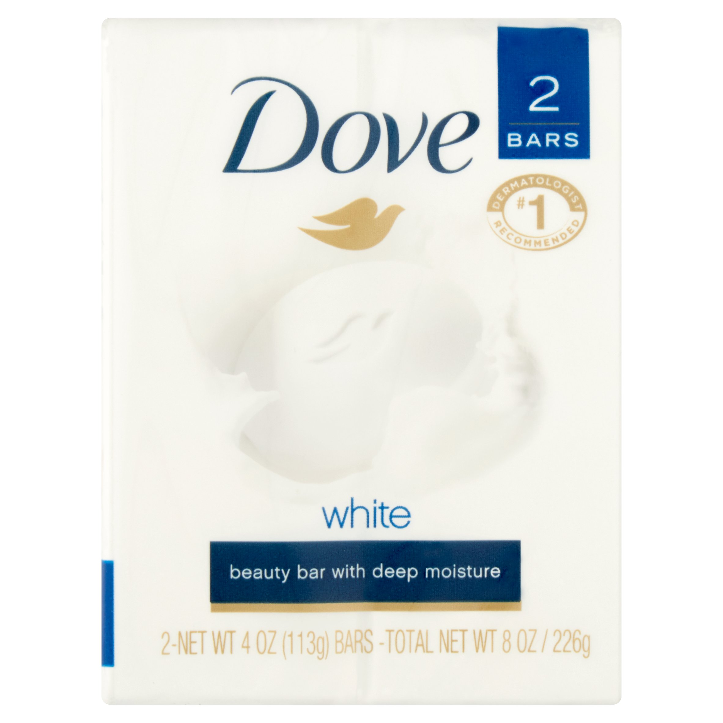 Dove White Beauty Bar with Deep Moisture, 4 oz, 2 count - Walmart.com