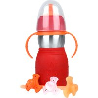 Kid Basix by New Wave - Safe Sippy 2; Baby & Toddler Stainless Steel Cup with Straw