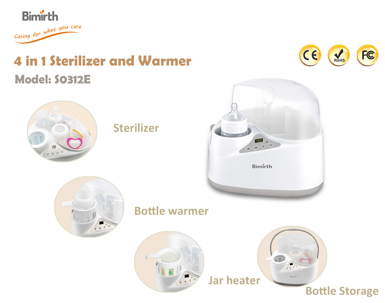Baby Bottle Warmer, Bottle Steam Sterilizer Multipurpose Baby Bottle Warmer with LCD-Display and Accurate... by TECBOX