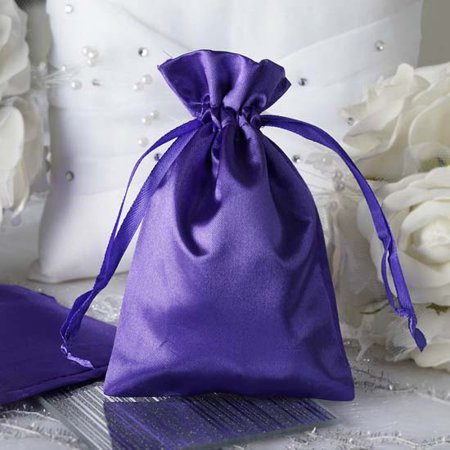 Efavormart 12PCS Satin Gift Bag Drawstring Pouch for Wedding Party Favor Jewelry Candy Solid Satin Bags - 4