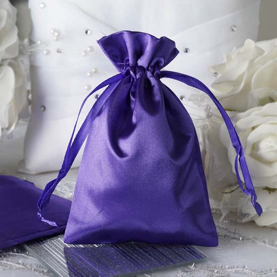 """Efavormart 12PCS Satin Gift Bag Drawstring Pouch for Wedding Party Favor Jewelry Candy Solid Satin Bags - 4""""x 6"""""""