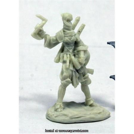25mm Scale Reiko Iconic Ninja, Bobby Jackson - Pathfinder Bones](Ninja Monkey Bones)
