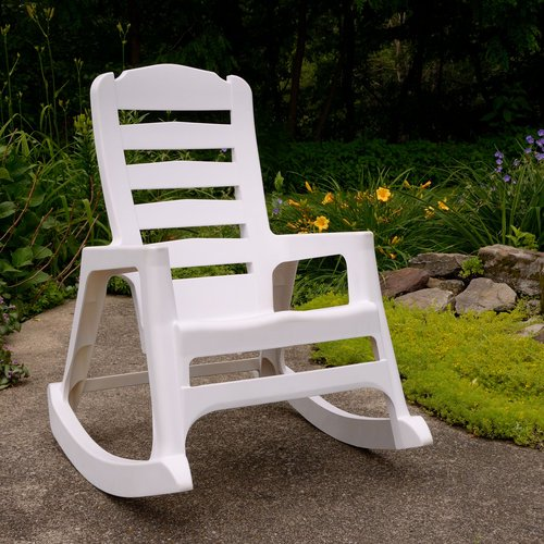 Fine Adams Manufacturing Big Easy Rocking Chair White Caraccident5 Cool Chair Designs And Ideas Caraccident5Info