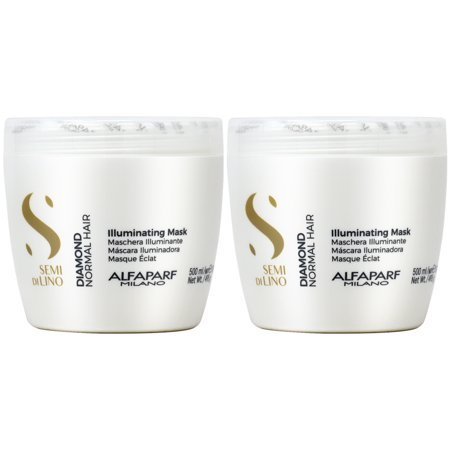 Alfaparf Semi di Lino Diamond Illuminating Mask 17.4oz (Pack of 2)