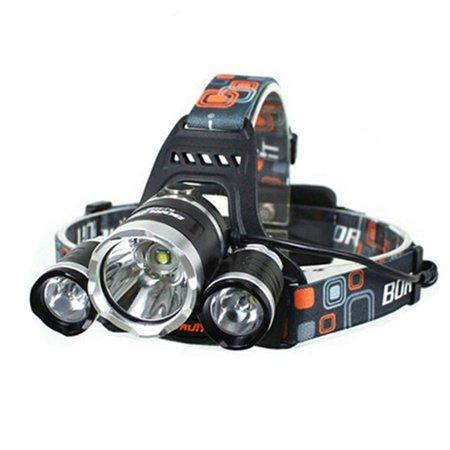 LW-5000 3*LED Headlight 10W 3-Mode 5000LM High Brightness White Light Wearable - Led Wearables