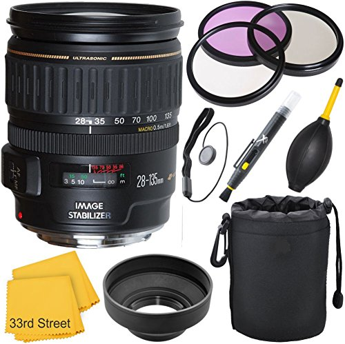 Canon 28-135mm IS USM Lens Bundle Kit (White Box) for Can...