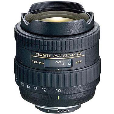 Tokina 10-17mm F3.5-4.5 Fisheye AT-X 107 DX Lens for Canon (Tokina 10 17mm Fisheye Lens For Canon)
