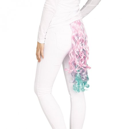 Unicorn Tail Adult Costume Accessory Pastel Curly