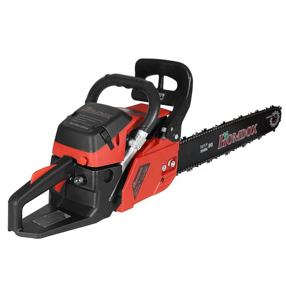 20'' 3.4HP 58cc Gas Engine Electric Chainsaw Powered Woodcutting Saw BETT