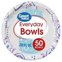 Great Value Everyday Bowls, Fiesta Print, 50 Count