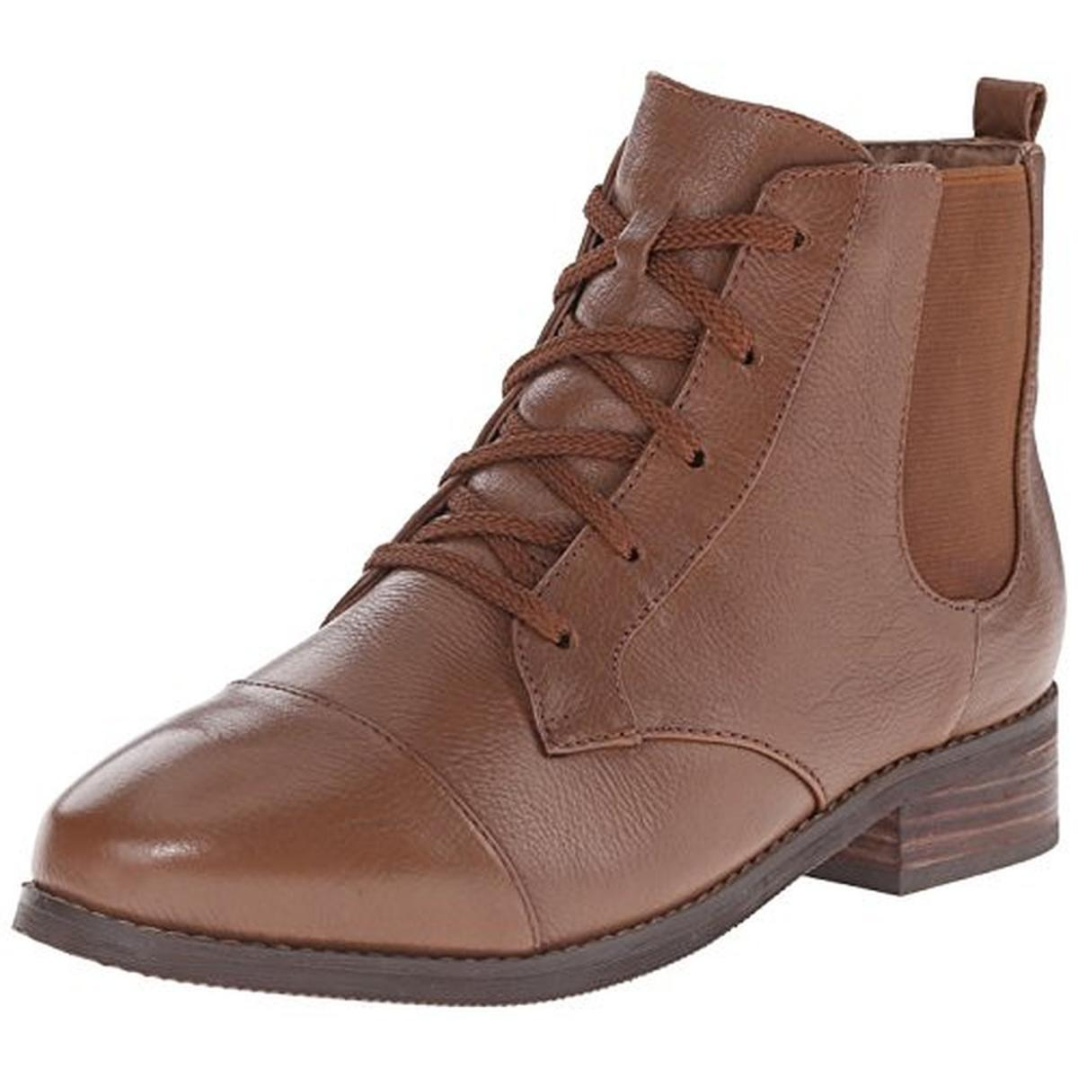 SoftWalk Womens Miller Leather Lace-Up Ankle Boots