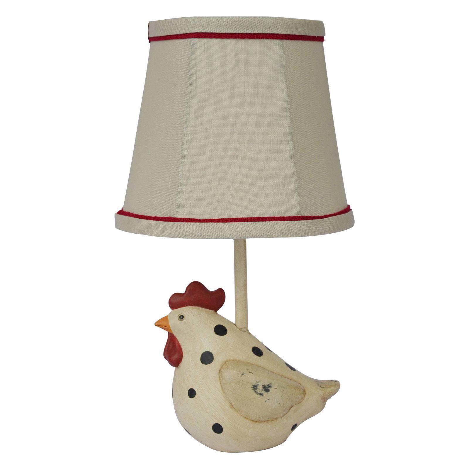 Image of A Homestead Shoppe Big Fat Hen Polka Dot Table Lamp