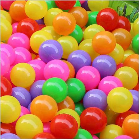 100Pcs 5.5cm Colorful Ocean Balls Ball Pit Balls Baby Kids Tent Swim Toys Ball for Baby Tent Swim Toys - Balls That Light Up