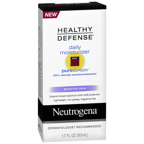 Neutrogena Healthy Defense Sensitive Skin Daily Moisturizer With Pure Screen, Spf 50, 1.7 Oz, 2 Pack