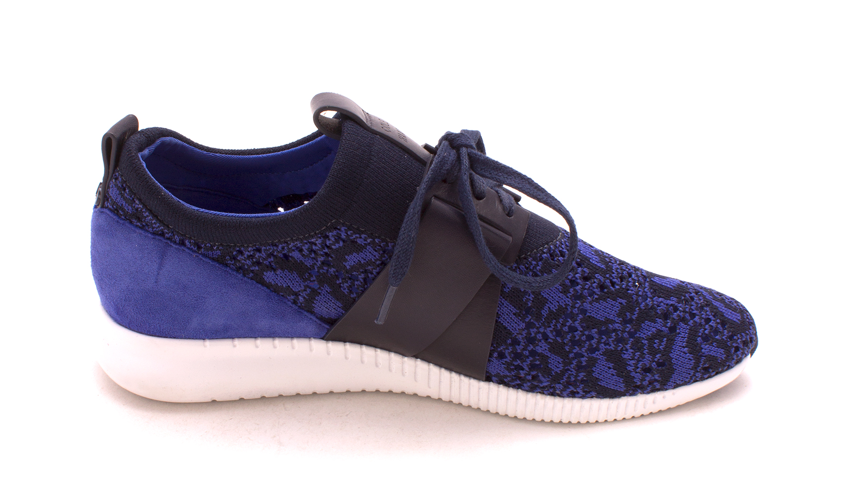 Cole Haan Womens Charlottesam Low Top Lace Up Fashion, Blue/Black, Size 6.0