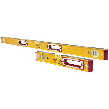 "Stabila 37816 48"" & 16"" Yellow Magnetic Level Set"