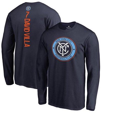 David Villa New York City FC Fanatics Branded Backer Long Sleeve T-Shirt - Navy ()