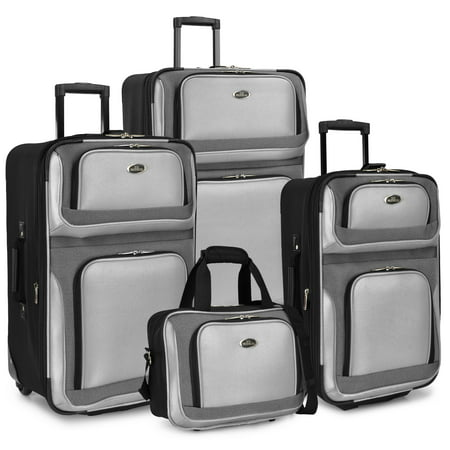 U.S. Traveler New Yorker 4-Piece Luggage (Windswept Traveler)