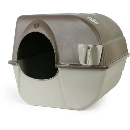Omega Paw Roll 'N Clean Cat Litter Box, Large](Cat Paws Tattoo)