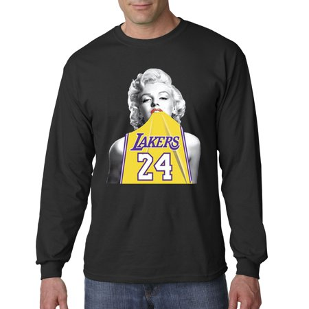 online store 5260e 5b325 412 - Unisex Long-Sleeve T-Shirt Marilyn Monroe Lakers 24 Kobe Bryant Jersey