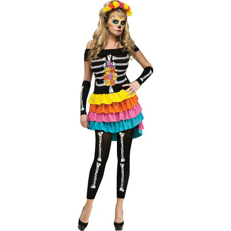Day of the Dead Adult Halloween Costume - Looking Dead For Halloween