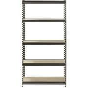 "Muscle Rack 30""W x 12""D x 60""H 5-Shelf Steel Freestanding Shelves, Silver-Vein"