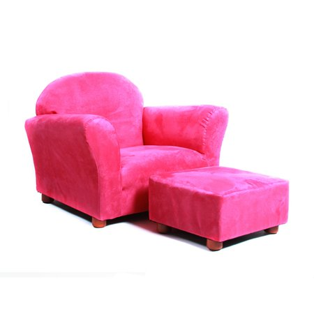 Keet Roundy Microsuede Kids Chair with Ottoman
