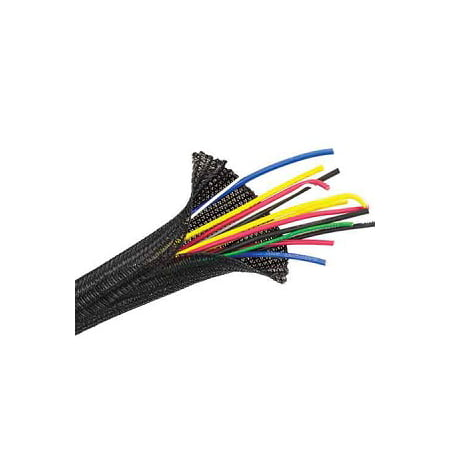 Flexo F6 Braided Cable Wire Sleeving Wrap Cable Management in Black, Orange or Clear - Techflex