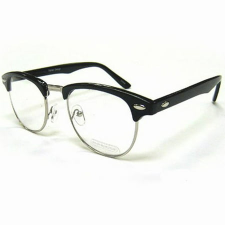 Nerdy Soho Glasses With Black and Silver Frames Malcolm X 50\'s 60\'s ...
