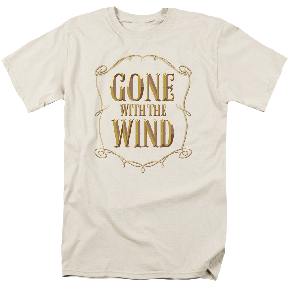 Gone With The Wind Men's  Logo T-shirt Cream