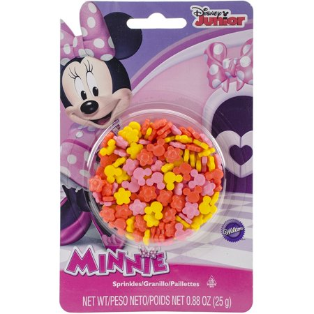 Minnie Mouse Pink, Orange, Yellow Edible Sprinkles - .88 - Orange Sprinkles