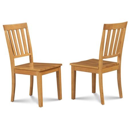 Dining Chair in Oak Finish - Set of 2