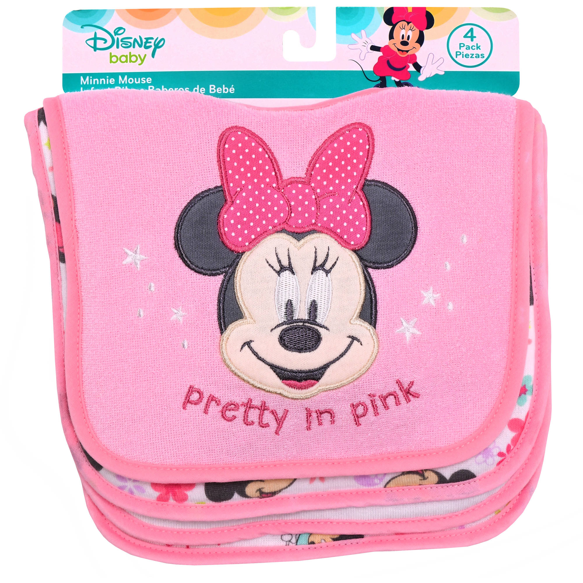 Disney Minnie Mouse Infant Bibs, Pack of 4