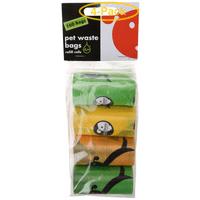 Lola Bean Pet Waste Bag Refills - Unscented 160 Bags - Pack of 4