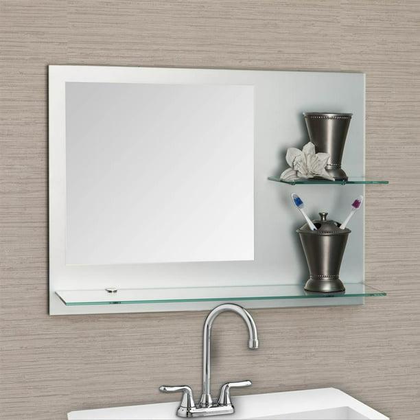 Bathroom Mirror With Shelves Walmart Com Walmart Com