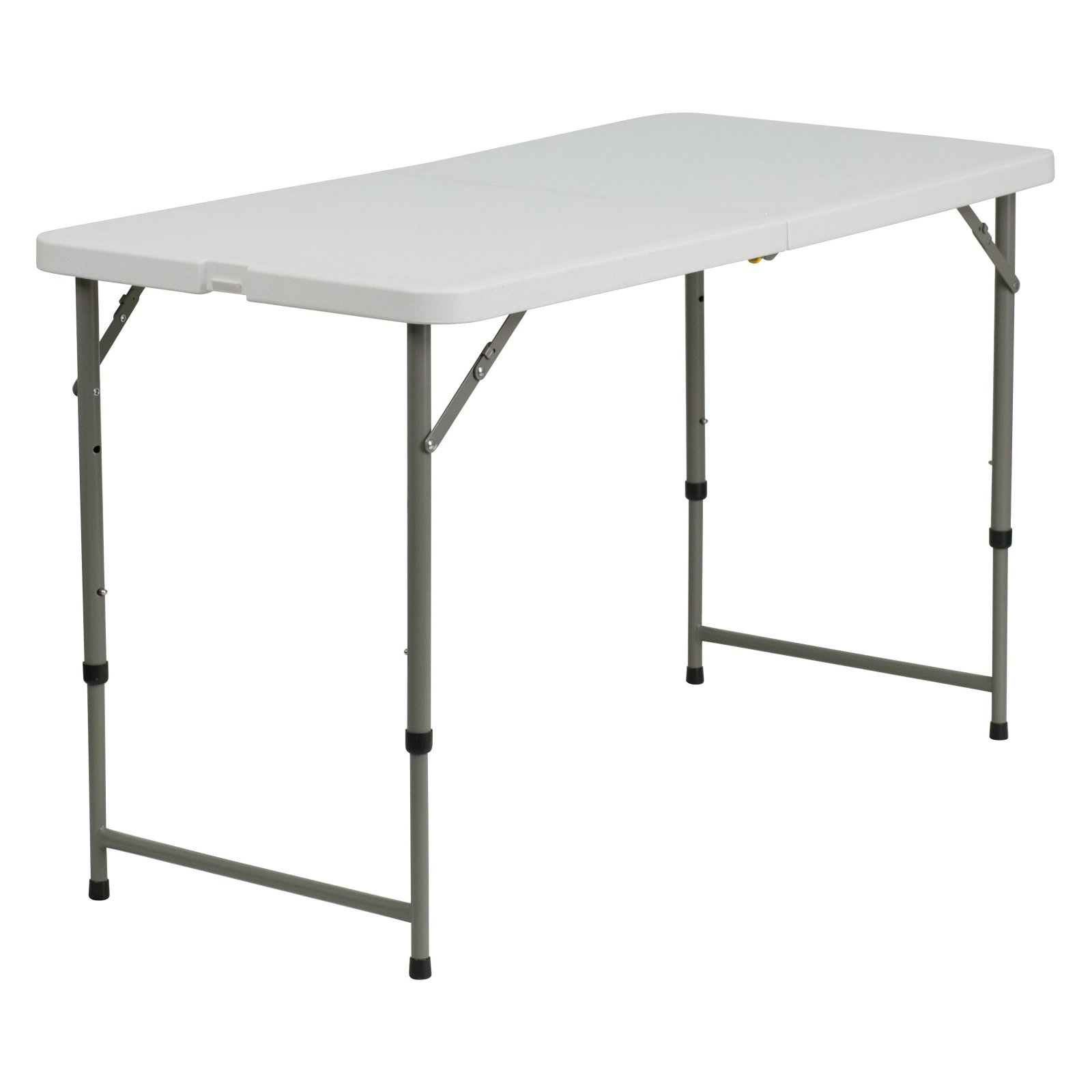 Flash Furniture 24''W x 48''L Height Adjustable Granite White Plastic Folding Table by Flash Furniture