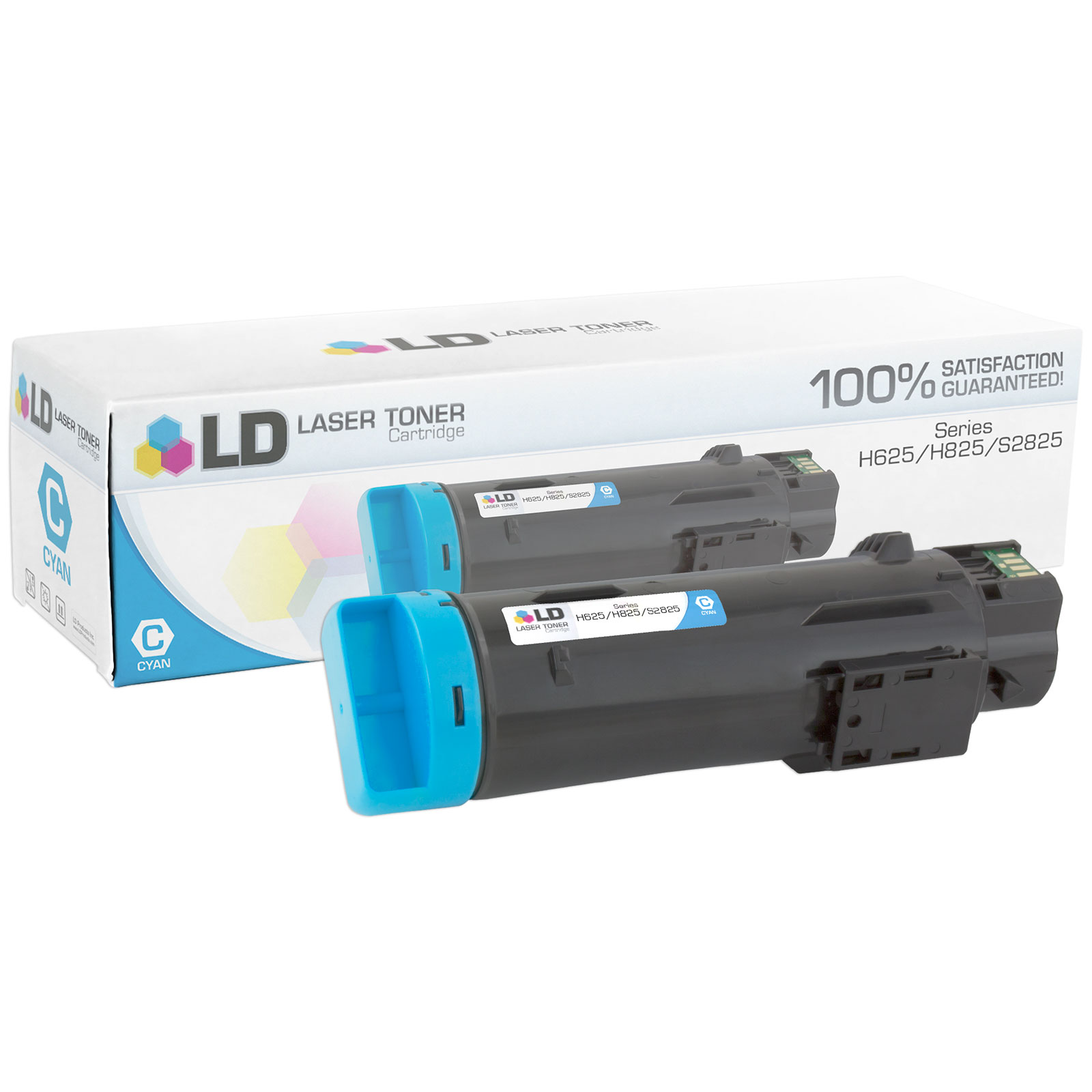 Compatible 2,500 Page Cyan Toner Cartridge (P3HJK) for Dell H625/H825 Laser Printers