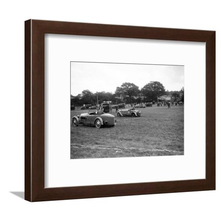 Falcon Frame Parts (Bugatti Type 43 and Frazer-Nash Falcon taking part in the Bugatti Owners Club gymkhana, 5 July 1931 Framed Print Wall Art By Bill Brunell)