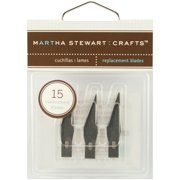 Martha Stewart M281021 Martha Stewart Craft Knife Refill Blades 15/Pkg - For M281019
