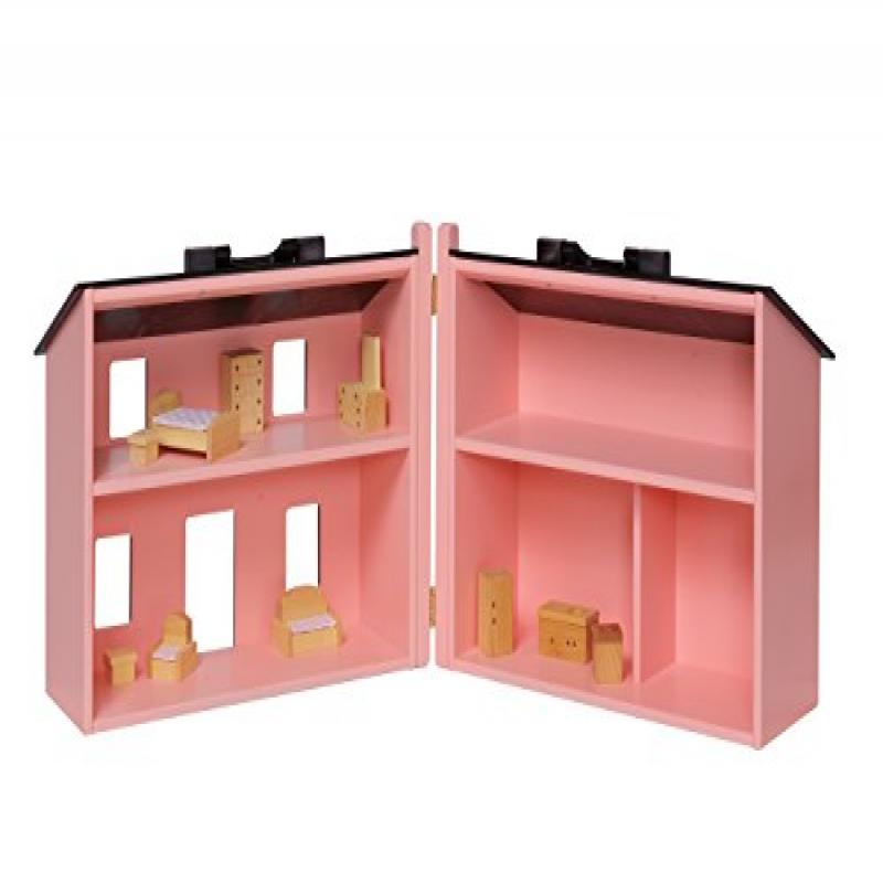 Amish-Made, Handcrafted Wooden Folding Doll House - Large...
