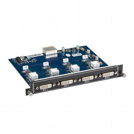 Modular Video Matrix Switcher Output Card Dvi-d Hot-Swappable for Avs800-1600