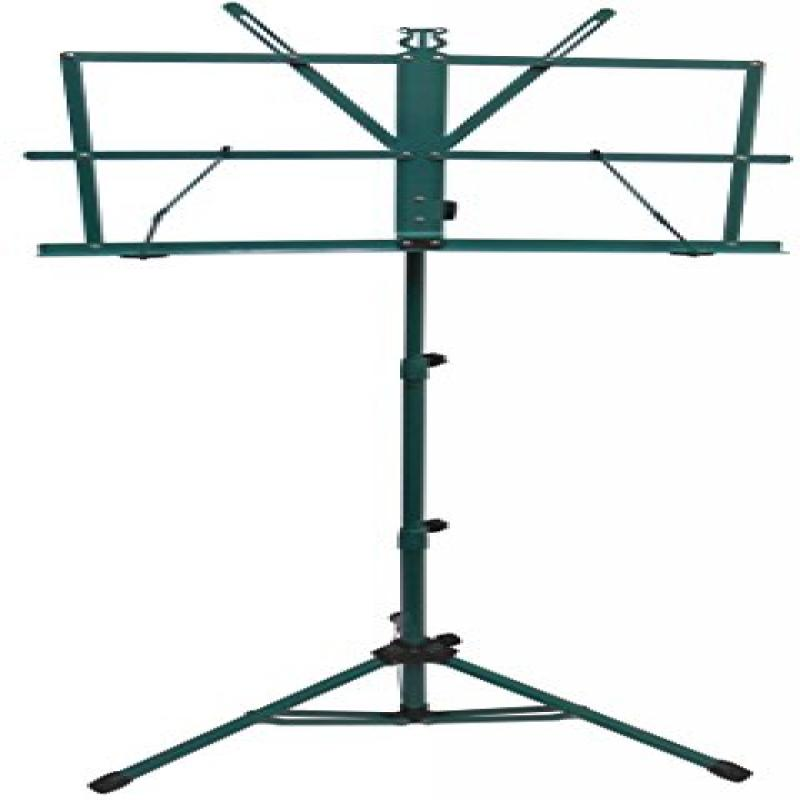 AST4442GN GREEN-PORTABLE SHeet MUSIC STAND WITH A HEAVY-DUTY CARRYING POUCH by Audio2000S