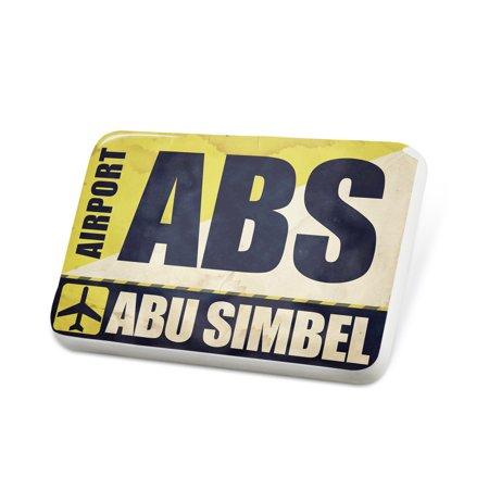 Porcelein Pin Airportcode ABS Abu Simbel Lapel Badge – NEONBLOND