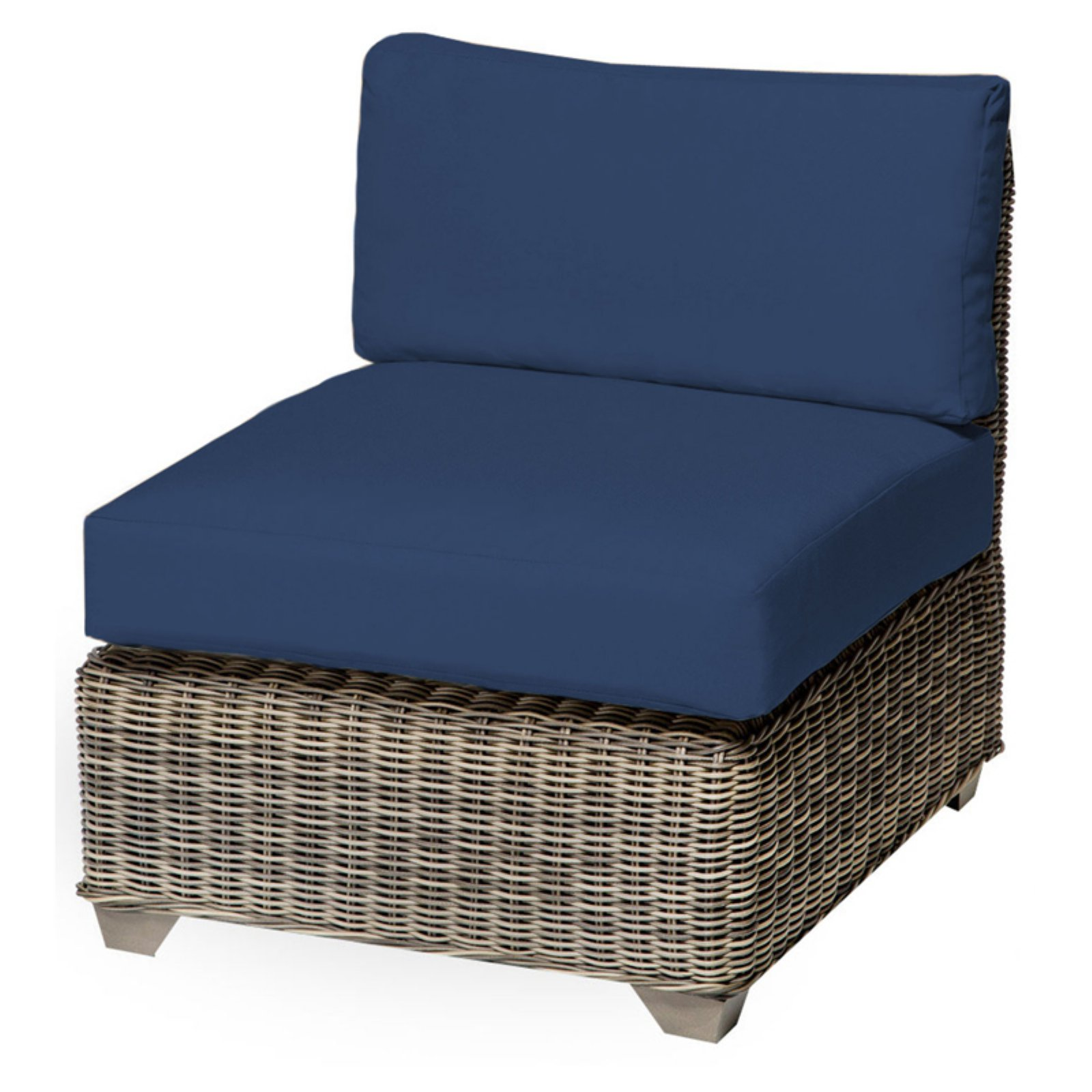 TK Classics Cape Cod Outdoor Middle Chair with 2 Sets of ...