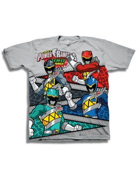 """Boys' """"Dino Charge"""" Character Scale Dinosaur Panels Short Sleeve Graphic T-Shirt"""